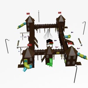 Детский комплекс VikingWood Мирский замок