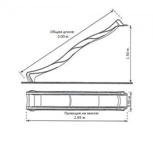 Пластиковый скат длина 3 м. S-line