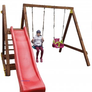 Детский игровой комплекс VikingWood  Трикс с качелями Забава