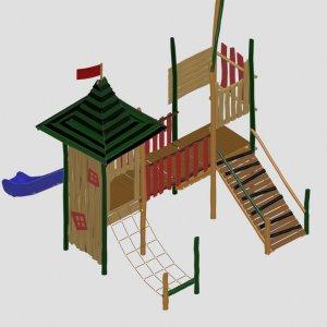 Деревянная горка для улицы VikingWood ЁН-002