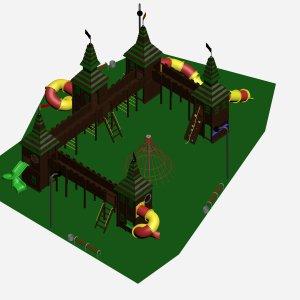 Детский комплекс VikingWood Замок