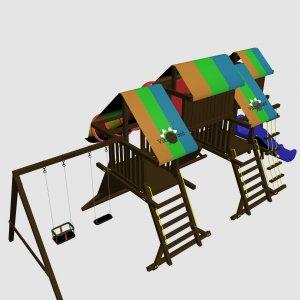 Детский игровой комплекс VikingWood Хром