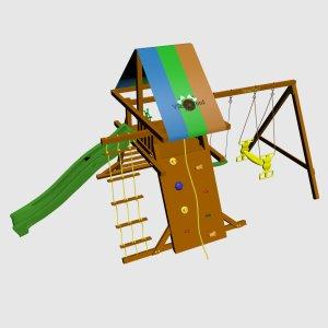 Детская игровая площадка VikingWood Ранчо с качелями Дуэт