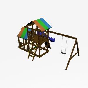 Детский игровой комплекс VikingWood Турин Премиум