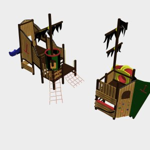 Детский игровой комплекс VikingWood Фрегат