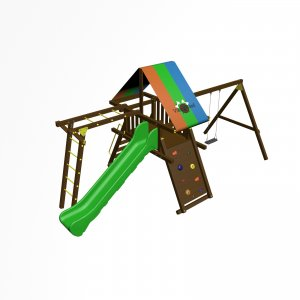 Детский игровой комплекс VikingWood Амиго Премиум с рукоходом