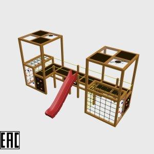 Детский игровой комплекс VikingWood Квадро 3