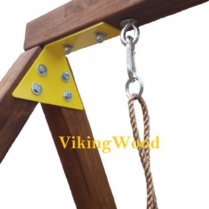 Детская горка  VikingWood Турин с кольцом