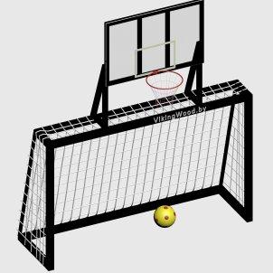 Ворота с баскетбольным щитом VikingWood ПТ-008