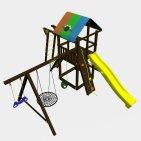 Детский игровой комплекс VikingWood Родео с рукоходом