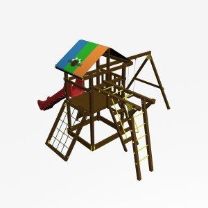 Детский игровой комплекс VikingWood Родео Премиум с рукоходом