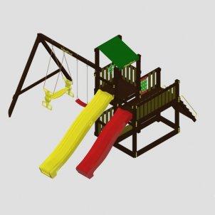 Детская игровая площадка VikingWood  Фиеста с качелями Дуэт