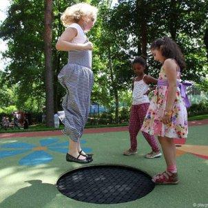 """Батут встраиваемый EUROTRAMP для детских площадок """"Playground Loop"""""""