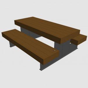 Уличная скамейка со столиком VikingWood P4